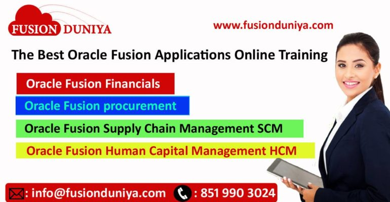 Oracle Fusion Applications Training - Magazine cover